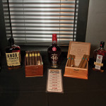 The bourbons and cigars.