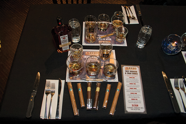 A table setting and tasting place.