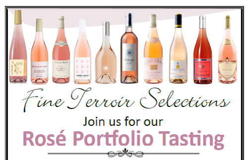 March 14 & 20, 2018: Fine Terroir Selelctions Rosé Trade Tastings