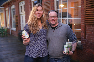 Bronya Shillo, Founder, Fishers Island Lemonade and Anthony DeSerio, who served as a cocktail competition judge.