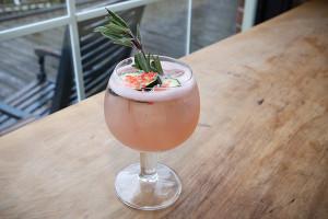 "The winning cocktail, ""Island Pop."""