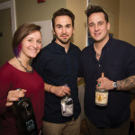 Kelly McCarthy, Brand Development Manager, Anchor Distilling Co.; Ryan Cunningham, Fluke Wine Bar and Kitchen; and Corey J. Hayes, Bar Manager, Fluke Wine Bar and Kitchen.