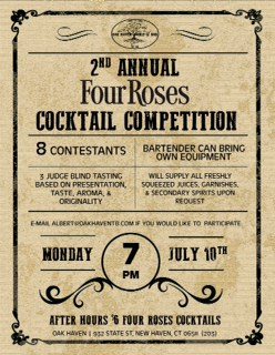 July 10, 2017: Four Roses Cocktail Competition