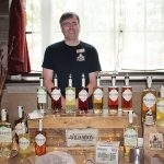 Tom Dubay, Co-owner, Hartford Flavor Company showcasing Wild Moon Liqueur.
