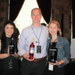 Mya Scott, Promotions; Gary Dritschler, State Manager CT/RI, Campari America; and Candice Dritschler, showcasing Campari and Bulldog Gin.
