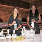 Rayane Azevedo and Sade Owoye representing The Botanist Gin.