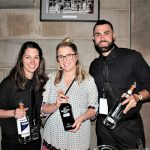 Meg Fanion, Catering Sales Manager, The Hartford Club with Hawthorne Gin; Nadine Gengras, Portfolio and Account Development Manager, Connecticut Distributors, Inc. (CDI) with Nolet's Dry Gin; Matt Landry, Bartender, Butchers & Bakers with New Amsterdam Gin.
