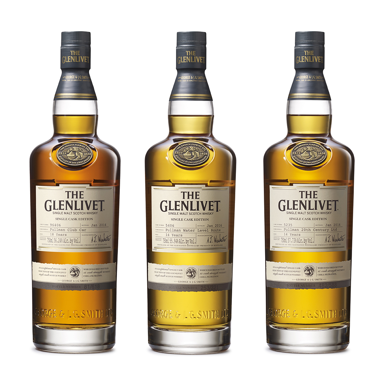 The Glenlivet Releases Three Single Cask Whiskies