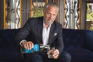 Jonathan Goldsmith with Astral Tequila.