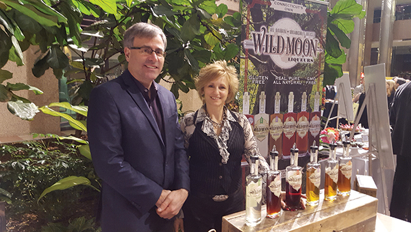 Tom and Lelaneia Dubay with their Wild Moon Liqueurs line.