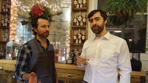 Slocum & Sons' John Tsipouras and David Rudman, Director of Education and Account Development, Brescome Barton. Hartford Flavor Company products are distributed in state via Brescome Barton.