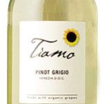 Tiamo Pinot Grigio, an organic of Italy.