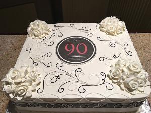 Hotel Viking's 90th anniversary celebratory cake.