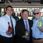 Angelo Culmo, District Manager, Hartley & Parker; Bill Saroka, Wine Director, Hartley & Parker; and Fran Magner, Owner, FX Imports.