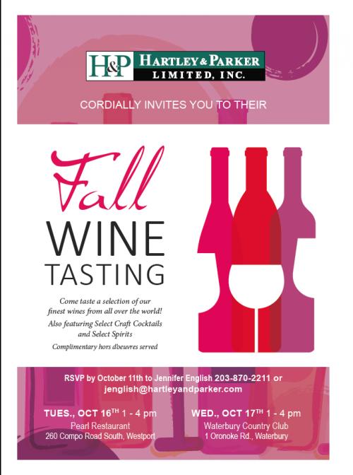 October 16-17, 2018: Hartley & Parker Fall Trade Tastings