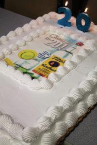 The Tito's Handmade Vodka 20th anniversary cake.