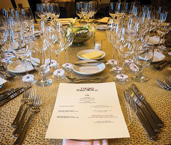 Hotel Viking Dinner Series Features Fine Wines
