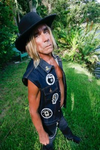 Iggy Pop in signature vest.