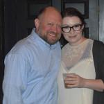 Morgan Marshall of Allan S. Goodman with Lauren Hansen, J. Timothy's Taverne.