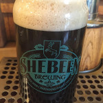 A pint of Shebeen's Java Pig Stout.