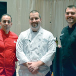 Iron Chef Event Competitors: David Ashwort, Mile & A Quarter Restaurant, Providence; Joe Coza, Executive Chef, Twin River Casino; and Winner Jeffrey Hoit, Director of Food & Beverage, Nylo Hotel, Warwick.
