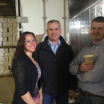 Aimie Likens, Executive Assistant, Thimble Island Brewing Co.; Keith Miranda, President, Johnson Brothers of Rhode Island; and Justin Gargano, Founder and President of Thimble Island Brewing Co.