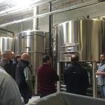 Dan Cole, Manager of Brewing Operations, educated the team about Thimble Island's brewing process and its beers.