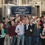 The Johnson Brothers, Inc. sales team featuring Justin Gargano, Founder and President of Thimble Island Brewing Co. (center left) and Keith Miranda, President, Johnson Brothers of Rhode Island (center right).