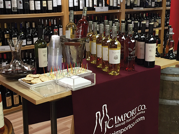 The display of wines at Wayland Square Fine Wine and Spirits.