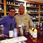 Milton Monzon, Regional Account Manager, with Bob Russell, Owner, Wayland Square Fine Wines and Spirits.
