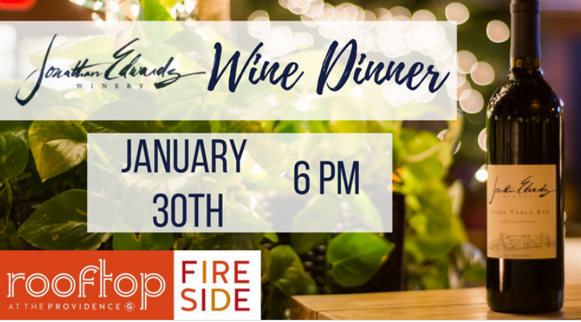 January 30, 2018: Jonathan Edwards Winery Winemaker Dinner