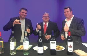 """Robert Prestash, Co-Host, """"Two Guys and a Lotta Wine""""; Jerry Farrell, Jr., Law Office of Jerry Farrell, Jr.; Jim Kimbrough, Co-Host, """"Two Guys and a Lotta Wine."""""""