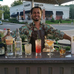 John Tsipouras, Sales Representative, Slocum & Sons, mixing cocktails on September 21 at Burtons Grill featuring Latin cuisine and cocktails made with selections from Luxardo Maraschino Liqueur, Don Q Silver Rum, Diplomatico Reserva Exclusiva 12-year-old Rum, Barsol Pisco, Cachaca Ypioca.