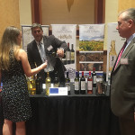 Peter Ioannou of Nestor Imports sampling the Greek wine portfolio with Erica Lass.