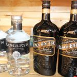 Langley's Distilled London Gin and Black Bottle Blended Scotch Whiskey.