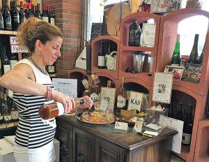 Sheila Cordelli, Brand Ambassador, Kas Spirits, highlighted Kas Krupnikas at Val's Putnam Wine on June 10.