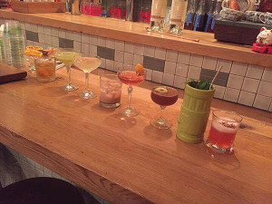 A selection of cocktails during the June 13 competition at Kawa Ni.