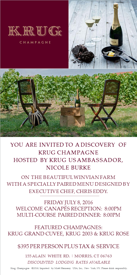 July 8, 2016: Krug Champagne Dinner