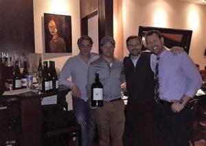 David Fernandez, Owner, Bistro Basque; Michael Munk, Regional Sales and Portfolio Manager CT/NY/NJ, Latitude Beverage; Brett Vankoski, Vice President Wine Director, Latitude Beverage; David McNulty, CT Sales Manager, Latitude Beverage.