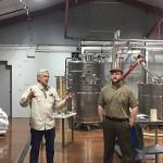 Litchfield Distillery Owner Jack Baker and Master Distiller James McCoy during the tour.
