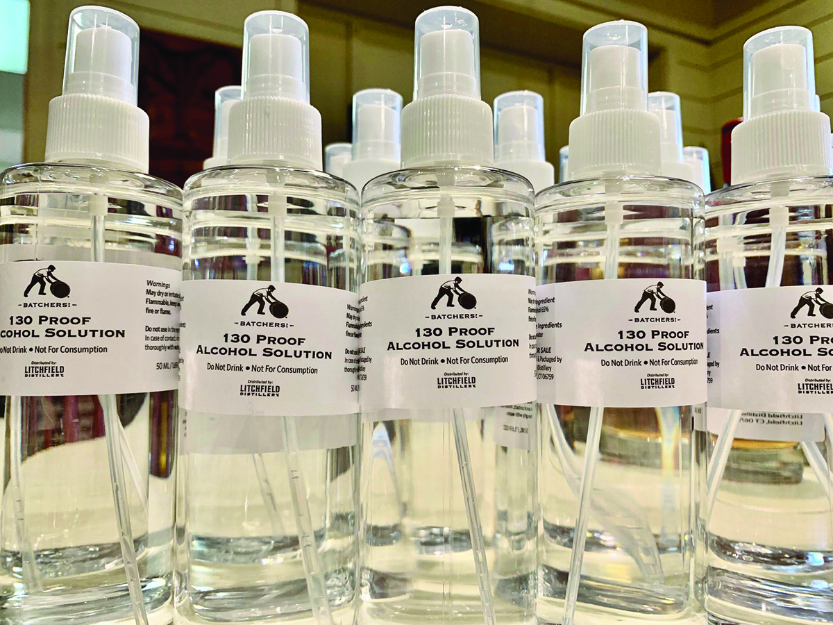 Distilleries in Connecticut Shift Gears to Make Hand Sanitizer