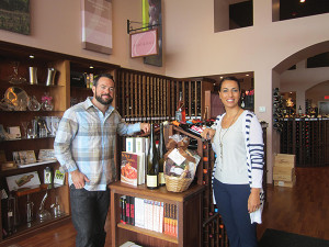The Savory Grape's Manager, Patrick Barberet and Wine & Food Educator, Tulay Lawton.