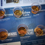 A tasting mat during the Heaven Hill educational session.