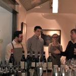 Luca Currado, Winemaker, Vietti Winery on far right, educating the staff of Community Table in New Preston about Vietti Wines.