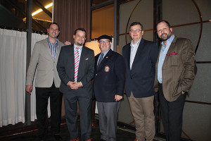Chris Sperling, Sales, CDI; Justin Gavry, Wine Director, Max Downtown; Michael Jordan, Master Sommelier; Brian Mitchell, Corporate Beverage Director, Max Restaurant Group; Adam Jacobs, National Accounts Director; Jackson Family Wines.