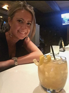 "Lindsay Gardiner with ""The Rye Cocktail."""