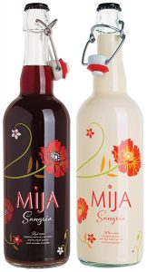 Mija Red and Mija White Sangria showcase new floral packaging.