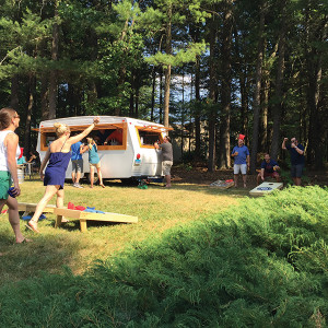 A summer outing featuring The Mobile Pub.