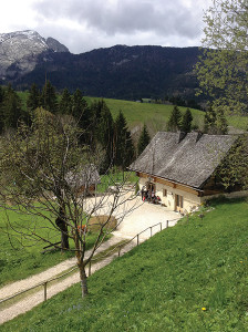 The Chartreuse distillery located in the French Alps.
