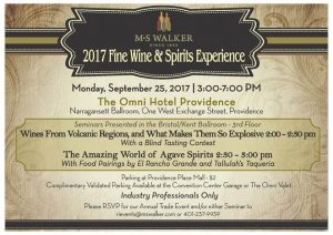 (Trade Only) MS Walker 2017 Fine Wine & Spirit Experience @ The Omni Hotel Providence | Providence | Rhode Island | United States